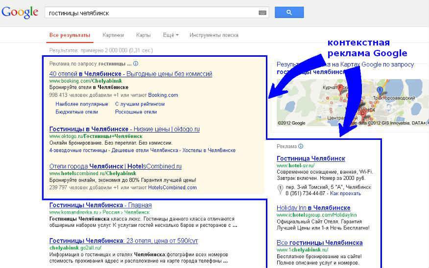 Контекстная реклама в google это